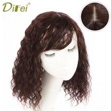 DIFEI Для женщин синтетический зажим для волос в парик шиньоны естественные Цвет Кукуруза горячей волосы короткая челка Топ Закрытие заколки 25/35 см