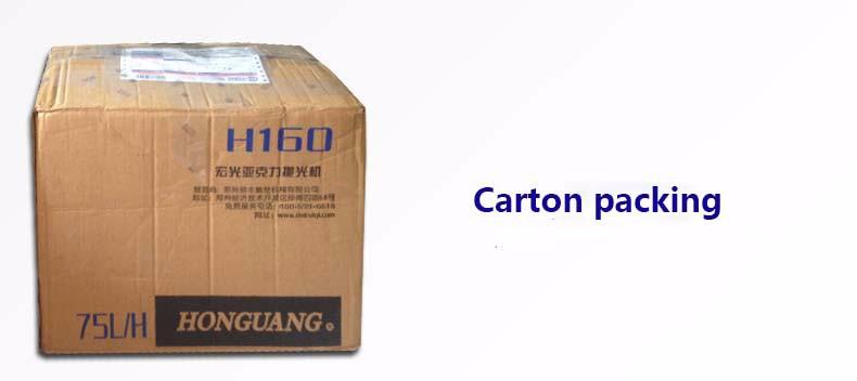 carton-packing-acrylic polishing machine