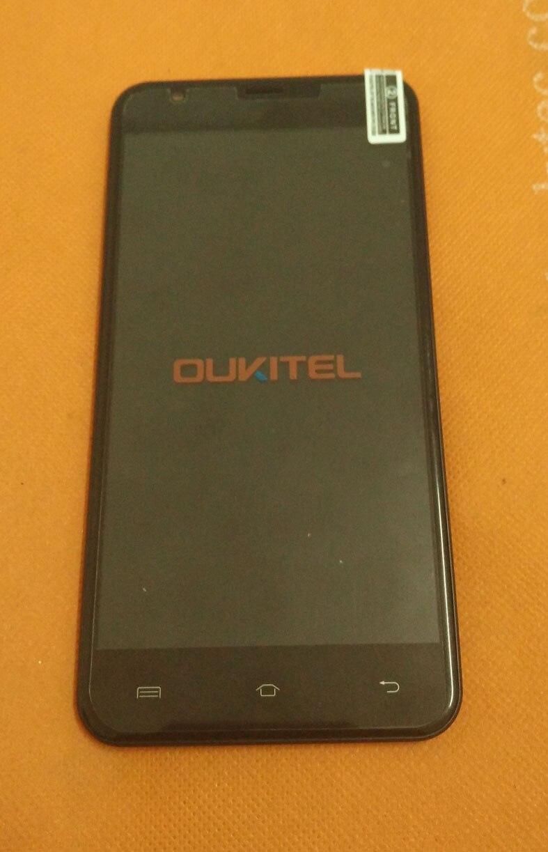 Usado Original da tela de Toque + display LCD + Quadro para Oukitel U7 Plus MT6737 Quad Core 5.5