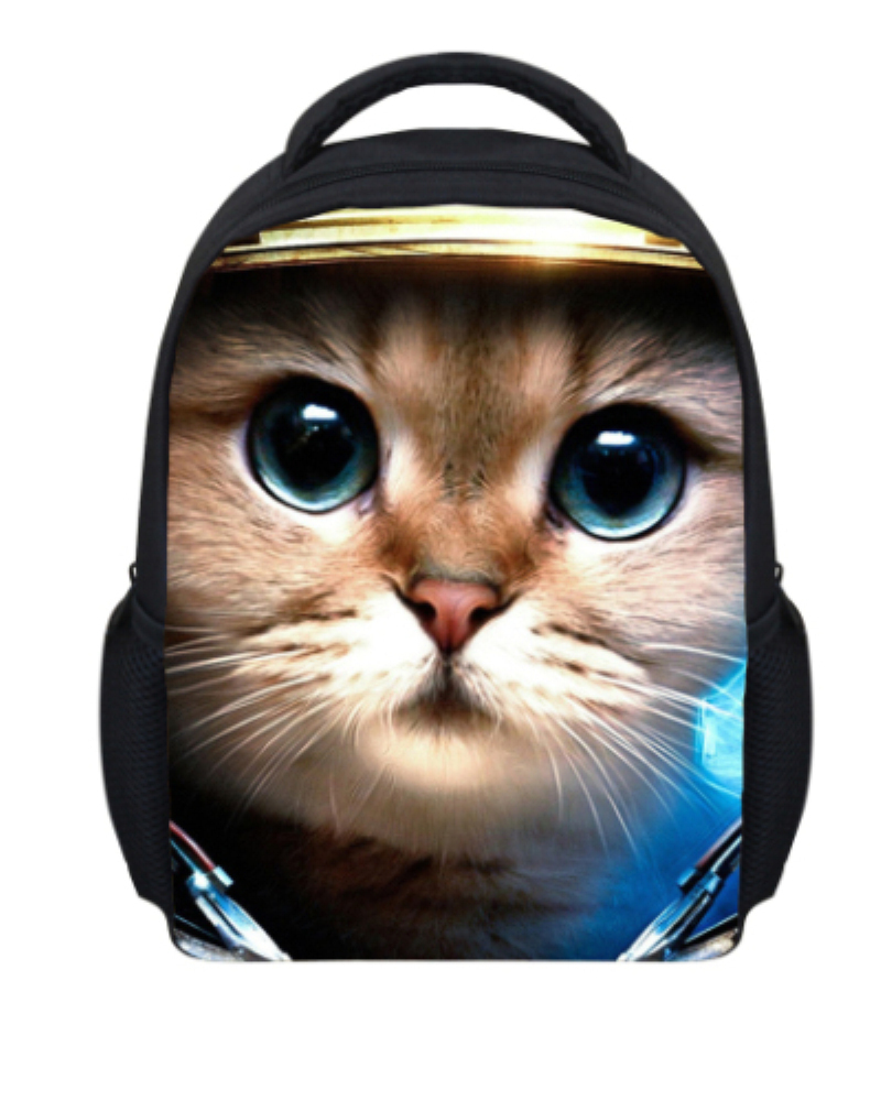 Aliexpress.com : Buy Unique 3D Animal Cat Printing Girls Shoolbag ...