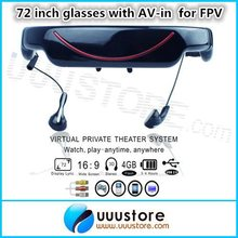 72 inch 16:9 LCD display  Virtual screen VG320A FPV video glasses with  AV-in