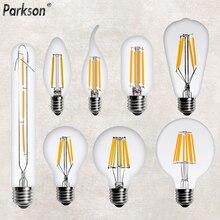 Светодиодный Эдисон лампы E14 E27 220V 2W 4W 6W 8W подвесной светильник в стиле ретро светодиодный свечи накаливания лампочка-свеча Винтаж подвесные предметы интерьера свет