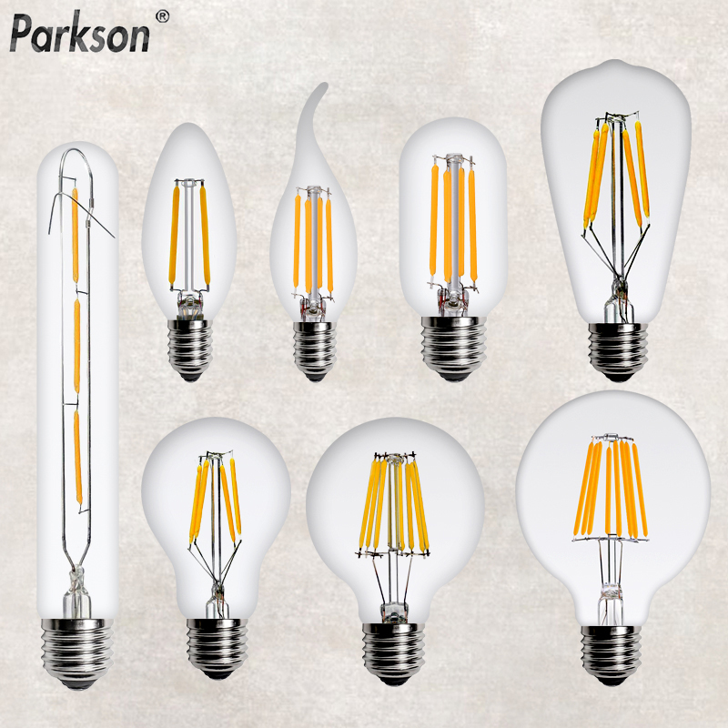 <font><b>LED</b></font> Edison <font><b>Bulb</b></font> <font><b>E14</b></font> E27 220V 2W 4W 6W 8W Retro Lamp <font><b>LED</b></font> Filament Candle Chandelier <font><b>Bulb</b></font> Vintage pendant Home Decoration Light image