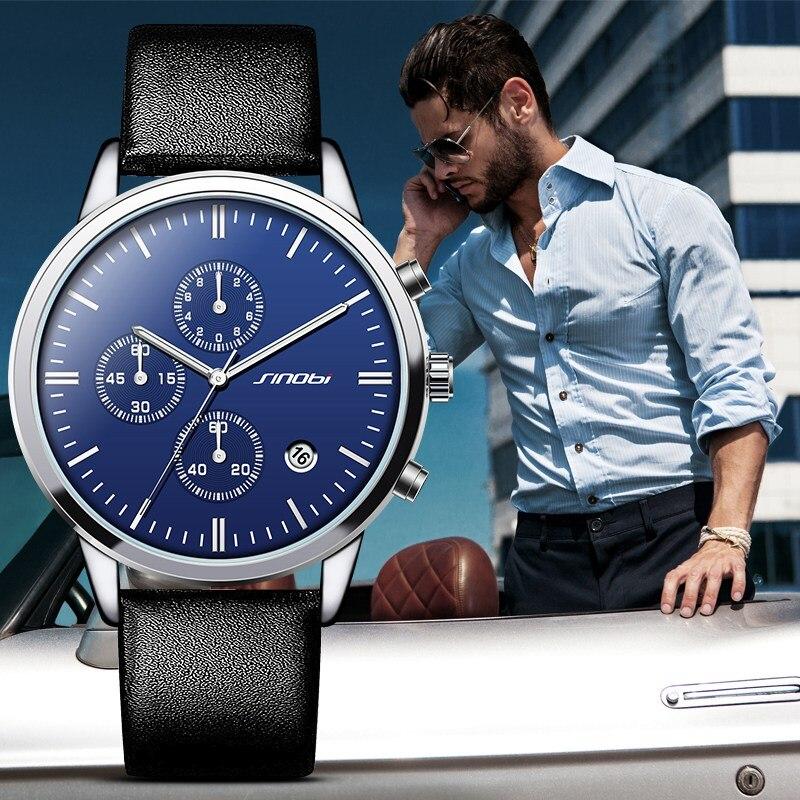SINOBI Mens Geneva Watches font b Luxury b font font b Top b font font b