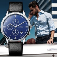 SINOBI Mens Geneva Watches Luxury Top Brand Chronograph Men's Big Dial Designer Quartz Wristwatches Male Relogios Masculino 2016
