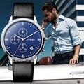 SINOBI Mens Ginebra Diseñador de Relojes de Lujo Top Brand Hombres del Cronógrafo del Dial Grande Relojes de pulsera de Cuarzo Relogios Masculinos 2016