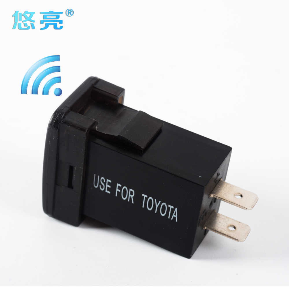 Most Trendy 4.2A Dual USB Car Charger Voltmeter 12V Socket USB Adapter Cell Chargers Dual Port Mini USB Car Charger For Toyota