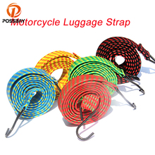 POSSBAY Motorcycle Luggage Strap Strong Elastic Cord Rope Tie Motorbike Parts Accessories With 2 Hooks