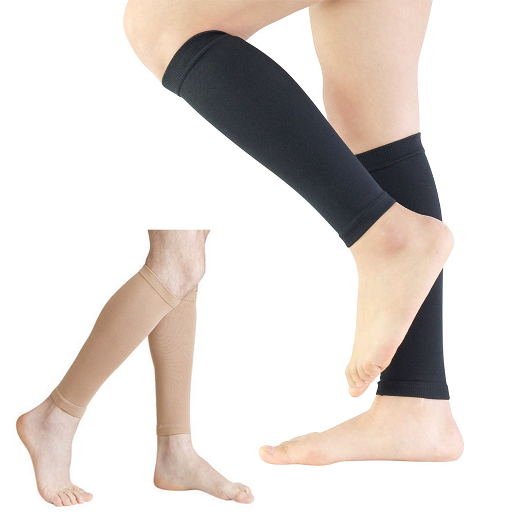 1Pair Compression Leg Sleeve Relieve Varicose Veins Circulation Sport Legwarmer Knee Sleeve Elastic Sport Run Protection Black