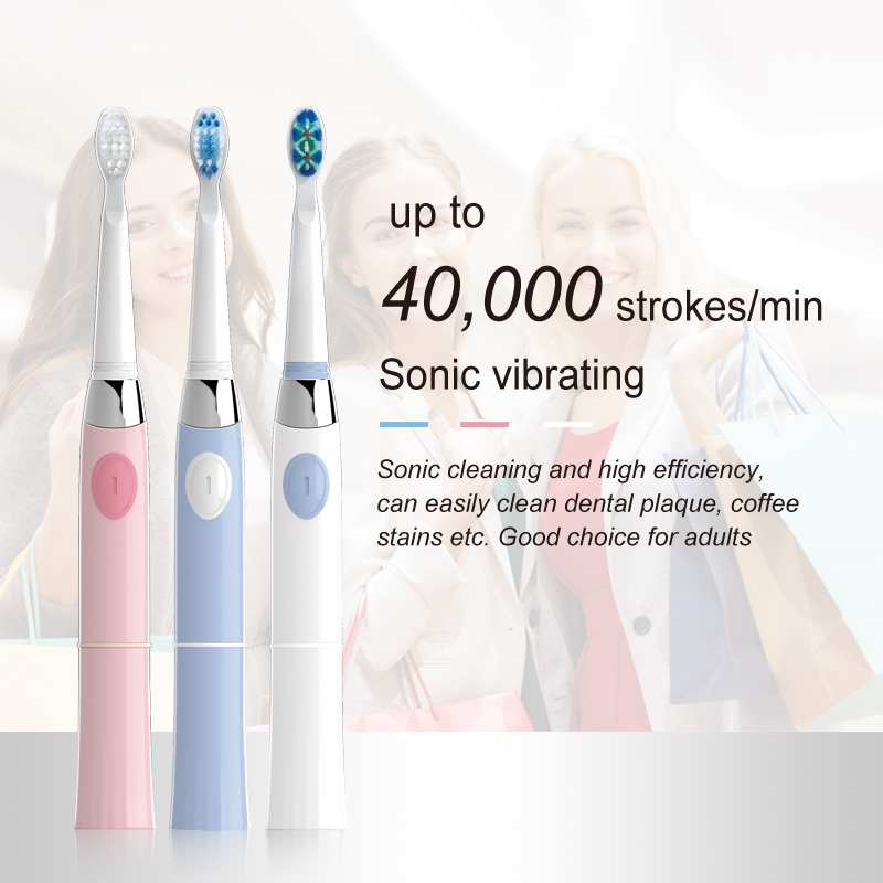 SEAGO Electric Toothbrush with 1 Replacement Brush Heads Battery Sonic Teeth Brush Deep Cleaning Included Soft-bristle SG503