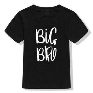 1 предмет, одинаковые летние футболки для всей семьи футболки для мальчиков с надписью «Big Bro & Lil Bro», комбинезон для новорожденных, для детей ясельного возраста, одежда с рисунком «Big Brother», «Little Brother», «Sibling»