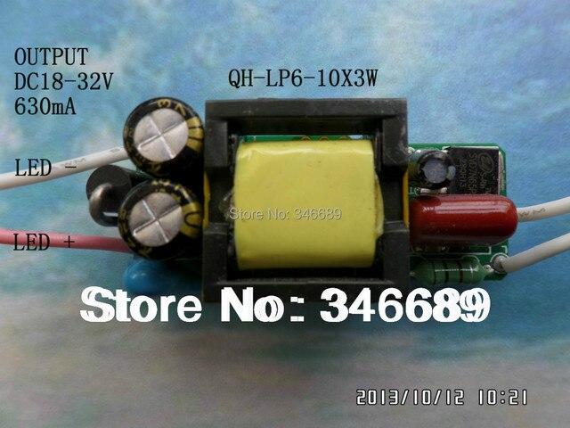 LED driver 20W 18W 16W 600mA 6-10S-1PX3 Qihan built in power supply lighting transformer