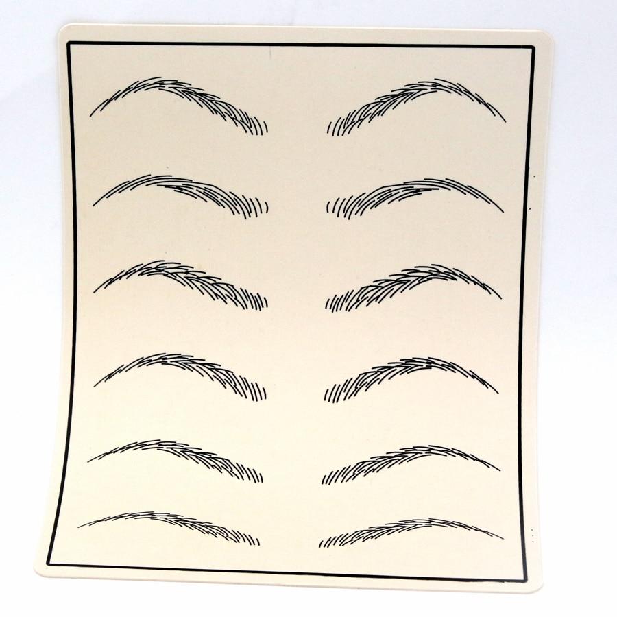10pcs Cosmetic Permanent Makeup Eyebrow Tattoo Practice Skin Supply