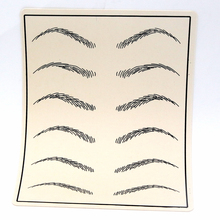 10pcs Cosmetic Permanent Makeup Eyebrow Tattoo Practice Skin Supply fake eyebrow tattoo practice skin for microblading
