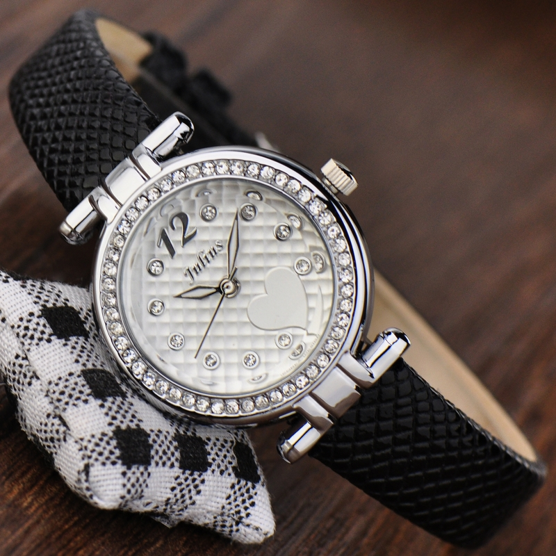Julius Lady Women s Watch Japan Quartz Hours Best Fashion Dress Bracelet Band Leather Elegant Heart