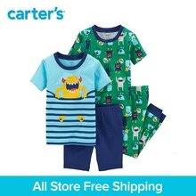 Carter s 4 Piece baby children kids clothing Boy Summer Snug Fit Cotton monster PaJamas 23161616