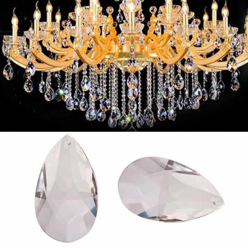 5 шт. прозрачное ожерелье с каплевидными кристаллами кулон 50 мм для свадебной вечеринки Потолочная люстра лампа Декор