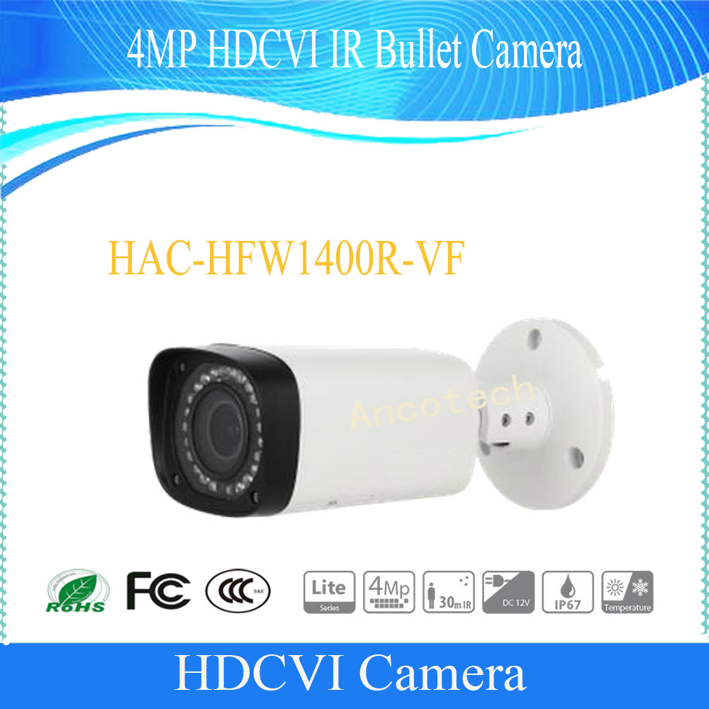 Free Shipping DAHUA Security Camera CCTV 4MP HDCVI IR Bullet Camera IP67 without Logo HAC-HFW1400R-VF free shipping dahua security camera cctv 4mp hdcvi ir bullet camera ip67 without logo hac hfw1400r vf