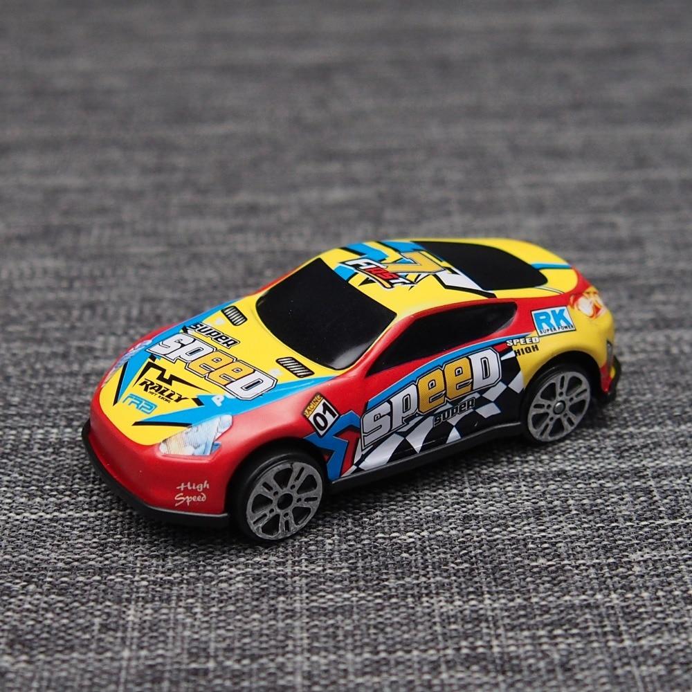 6pcs Racing Plastic Cars Parking Lot Toy Wheels Mini Car