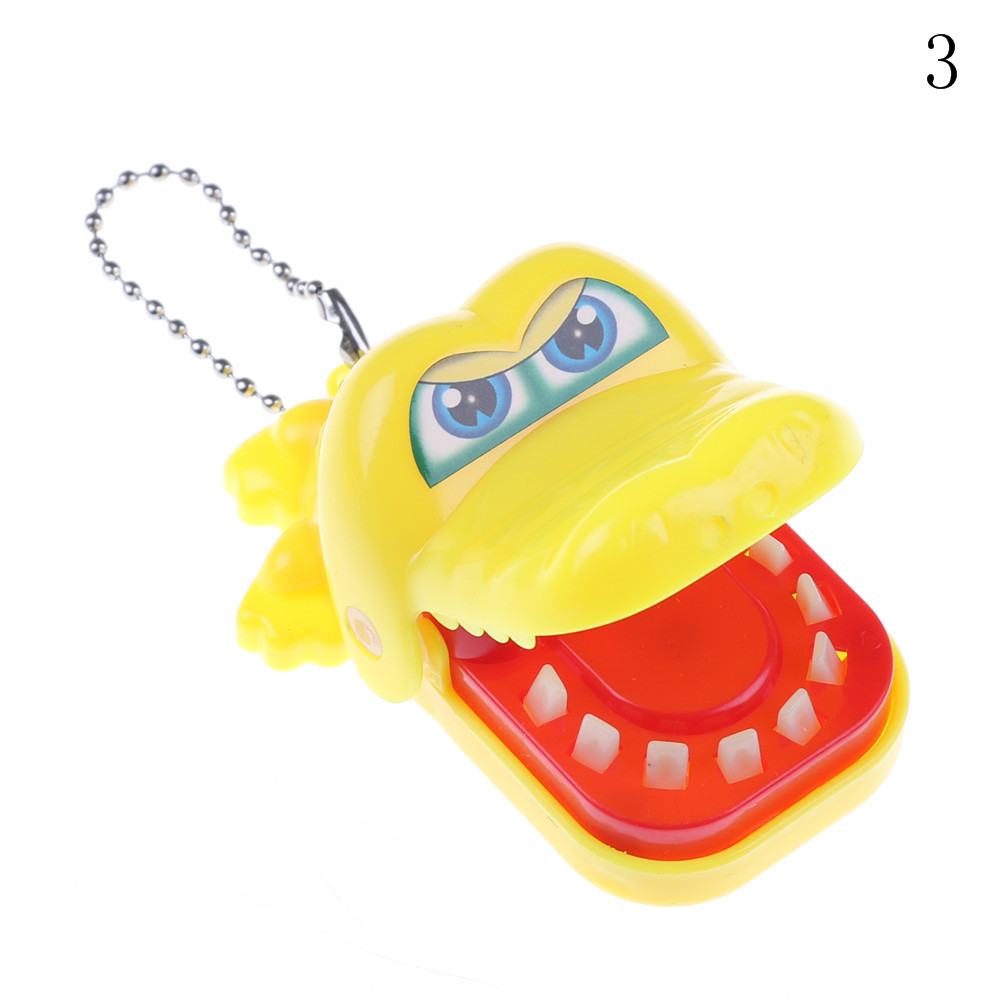 Key Cahin Mouth Dentist Bite Finger Keychain Toy Crocodile Pulling Teeth Bar Games Toys Kids Funny Toy For Children Gift Keyring Игрушка