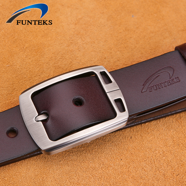 FUNTEKS 100% Cowhide Genuine Leather Belts