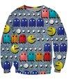 PacMan emoji Crewneck 80 s icono clásico juego de arcade 3d Sudor Tirón de Las Mujeres Ropa de Moda de Los Hombres Tops Jumper