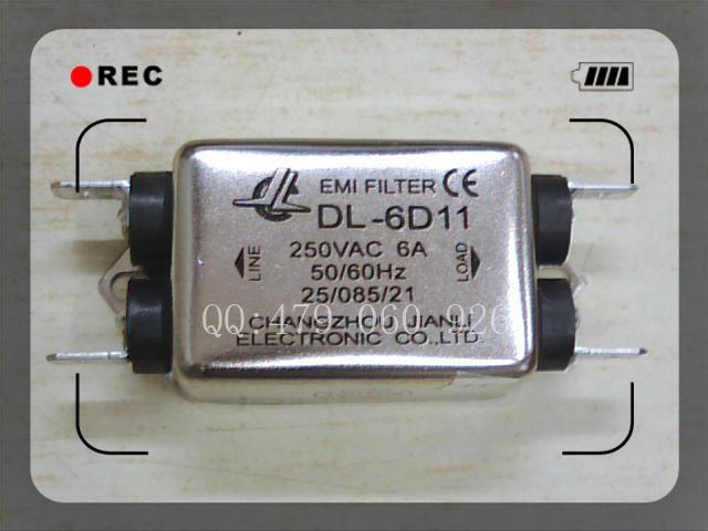 [ZOB] Jianli EMI filtre de puissance DL-6D11-10 PCS/LOT[ZOB] Jianli EMI filtre de puissance DL-6D11-10 PCS/LOT