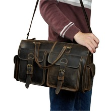 Men Origianl Leather Designer Travel Business Briefcase Heavy Duty Computer