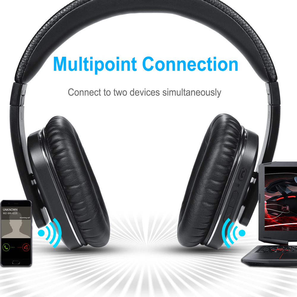 August EP750 aptX Aktive Noise Cancelling Wireless Bluetooth Kopfhörer mit Mikrofon Bluetooth ANC Headsets für Luft Reise - 5