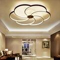Современный потолочный светильник для спальни  светодиодный светильник  потолочный светильник с цветами  персонализированные потолочные ...