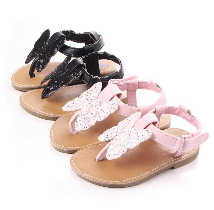 2018 high quality butterfly pu leather Baby sandals child Summer girls fashion sandals Sneakers 0-18 M baby moccasins ...