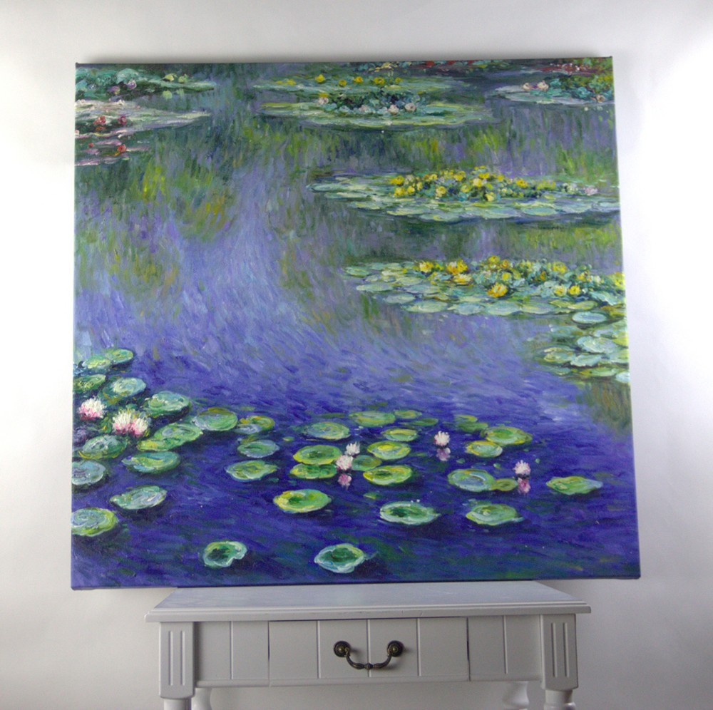Schöne seerose ölgemälde berühmte kunstwerk Claude monet bilder für ...