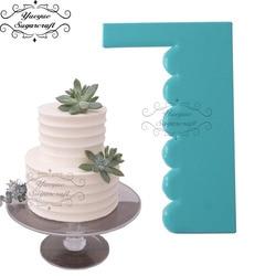 Yueyue السكر كرافت كعكة مكشطة أدوات تزيين الكعكة أدوات كعكة بلاستيكية