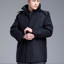 Nice Plus Size 4XL Mens Winter Long Jacket Men's Thicken Hooded Coat Loose Casual Outerwear Duck Down Jacket WJF1112