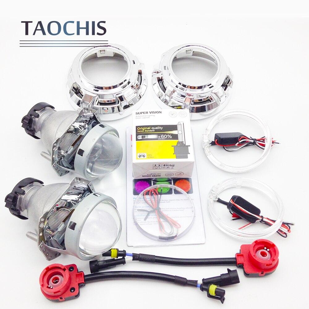 TAOCHIS 3.0 Bi xenon Hella Projector Lens HID xenon D2S Shroud Devil Angel Eyes Modify Head Lamp Upgrade Demon eye