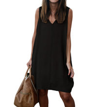 Plus Size V-Neck Casual Chiffon Summer Beach Dress