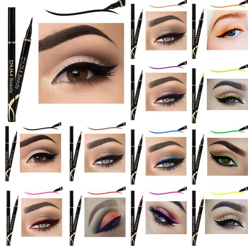 Nuevo DNM Delineador de Ojos impermeable lápiz líquido maquillaje de Ojos a prueba de agua de larga duración Multi-color Delineador de Ojos pluma brillo Delineador Ojos