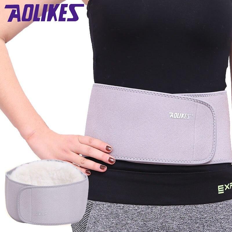 Unisex Health Winter Warm Belt Waist Protector Wool Warm Waist Brace Elastic Belt Elastic Protector Lumbar Support Keep Warm