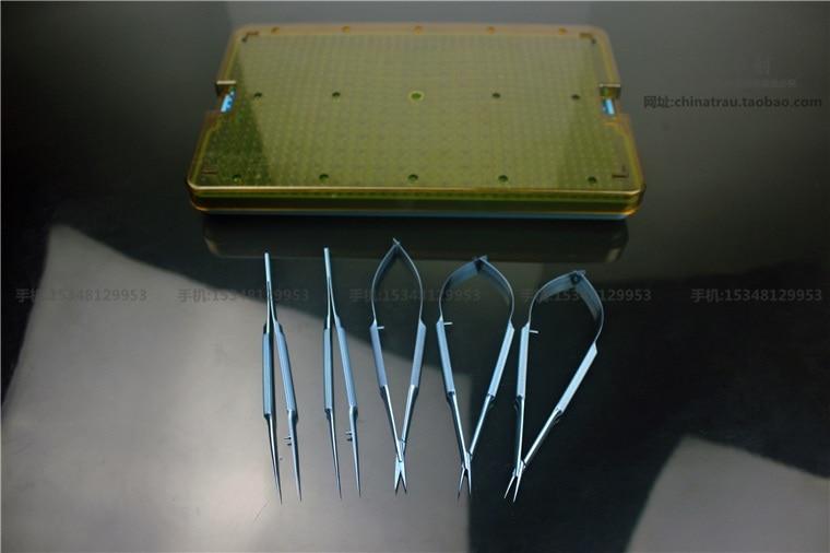 Medical orthopedics& surgery instrument titanium alloy tweezers beauty makeup tweezers&scissors with sterilizing box