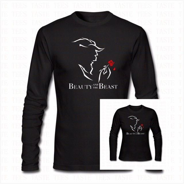 9a7483ea7 Fashion Funny BEAUTY AND THE BEAST Long Sleeve Shirt Men Women Hip Hop  Cotton ONeck Full