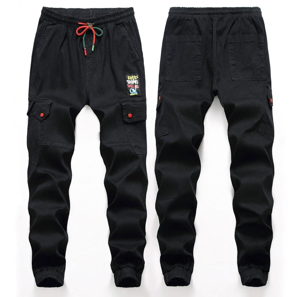 Skinny-Jeans Pantalones Streetwear Joggers Distressed Casual Men Fashion Denim Homme