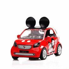 Cute Pikachu pet elf MickeyLY Kumamoto alloy car model children simulation pull back toy