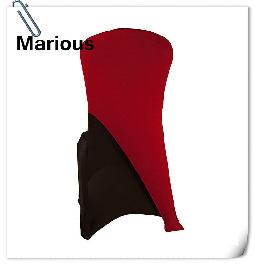 2017 hot sale with best quality ! 100pcs Burgundy Spandex chair hood Chair Bands for Banquet Wedding FREE SHIPPING