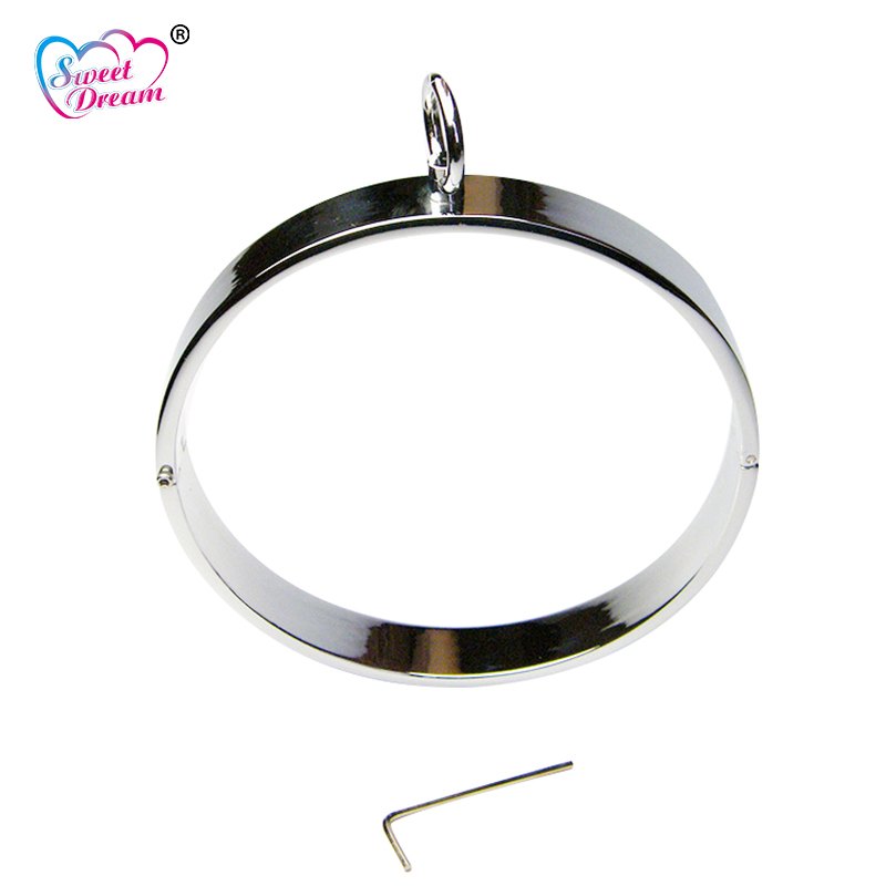 Sweet Dream 140mm Metal Stainless Steel Flat Neck Collar Slave BDSM Bondage Neck Cuff Adult Women Sex Toys for Couples LF-104 sweet round neck button down knit dress for women