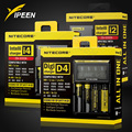 Marca Nitecore D4 I2 I4 Digicharger LCD Circuito Inteligente li-ion para 26650 18650 18350 16340 14500 10440 Cargador de Batería de Coche
