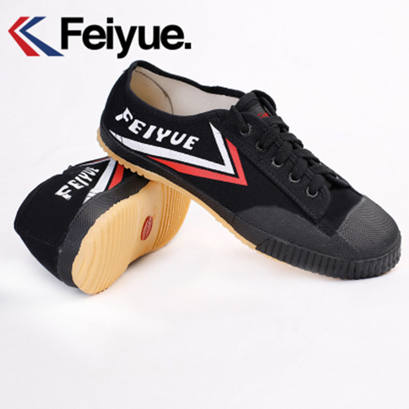 Black Kung Fu Feiyue Shoes Martial Arts Tai Chi Taekwondo Wushu Karate Footwear Sports Training Sneakers White For Kids Adult