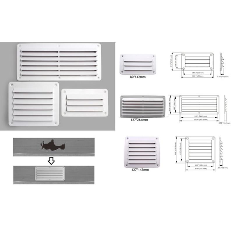 Plastic Air Vent Ventilator Grille Cover Ventilation RV Wall Mount