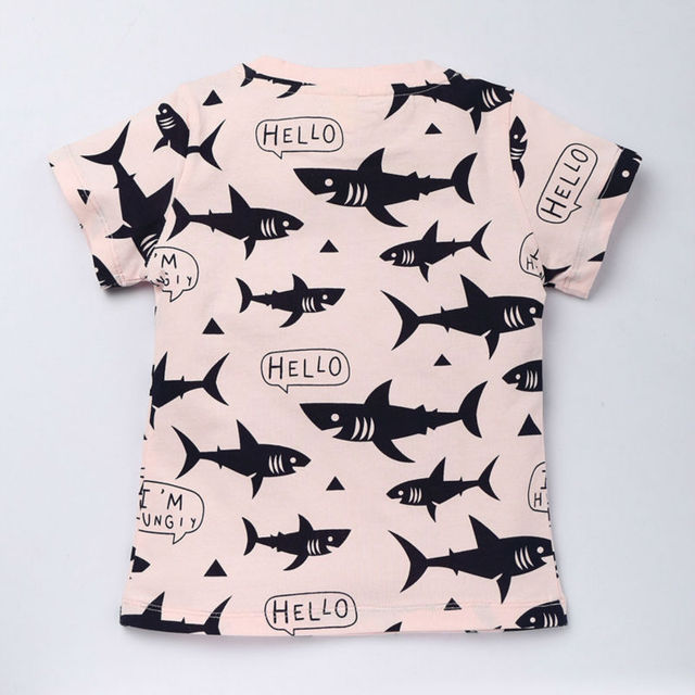 Cartoon Patterned Boy's T-Shirts