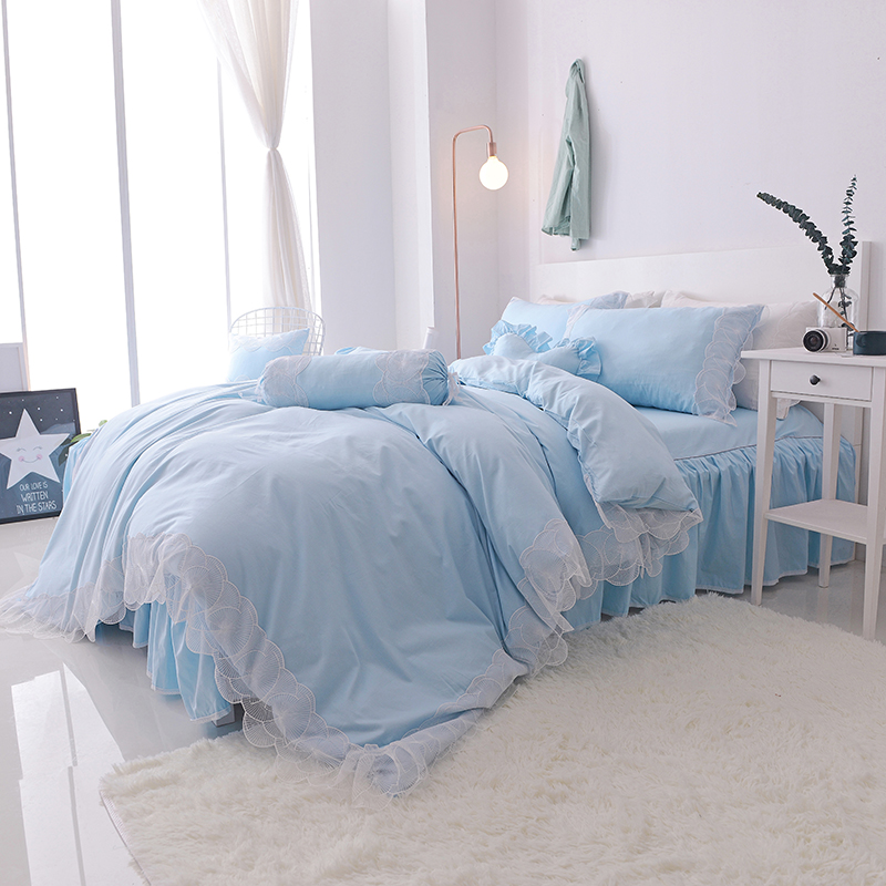 Svetanya Lace Princess Bedlinen Quilt Cover Set 4pc or 7pcs Collection Bedding Sets Korean Style Solid ColorSvetanya Lace Princess Bedlinen Quilt Cover Set 4pc or 7pcs Collection Bedding Sets Korean Style Solid Color