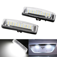 2X White 6000k Car LED License Plate Lights 12V Number Plate Lamp No Error For Lexus